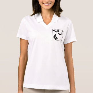 Tennis Silhouette Figure Polo T-shirt