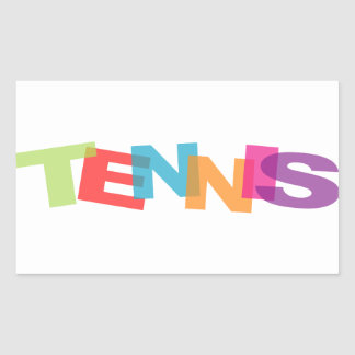 Tennis slogan sticker