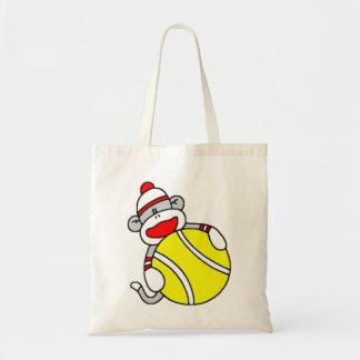 Tennis Sock Monkey Tote Bag