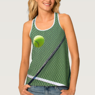 Tennis Sport All Over Print Racerback Tank Top