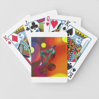 Tennis sport have a party today bicycle playing cards