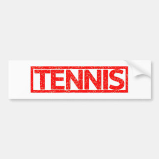 Tennis Stamp Bumper Sticker