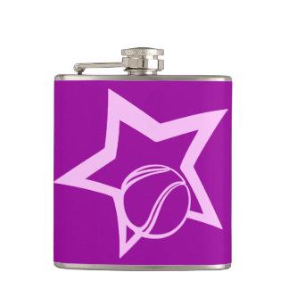 Tennis Star Hip Flask