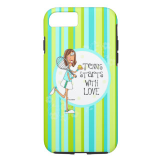 Tennis starts with love iPhone 7 tough case