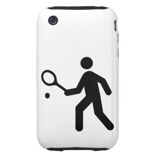 Tennis Symbol iPhone 3 Tough Cover