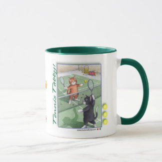 Tennis Tabby Cats Bud & Tony Mug