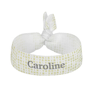 Tennis Text Ball Pattern Hair Tie