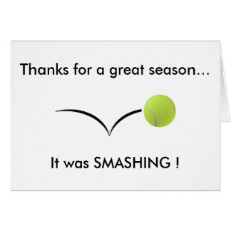 Tennis Thank You Card