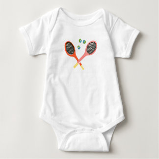tennis time baby baby bodysuit
