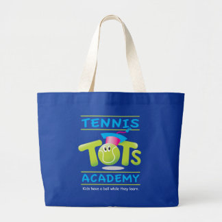 Tennis Tots Academy_Kids have a ball learning Large Tote Bag