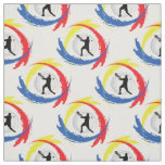 Tennis Tricolor Sport Emblem (Male Version) Fabric