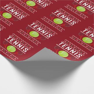 Tennis Ugly Christmas Sweater Wrapping Paper