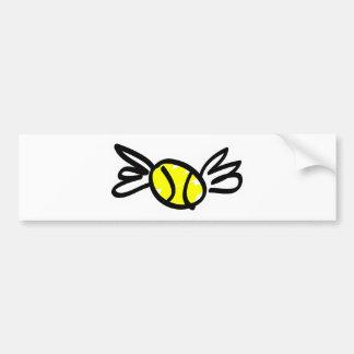 tennis-wings bumper sticker