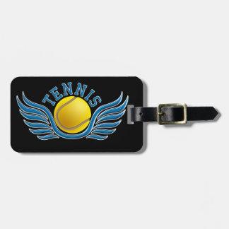 tennis wings luggage tag