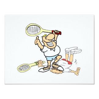 """Tennis Winner 4.25"""" X 5.5"""" Invitation Card"""