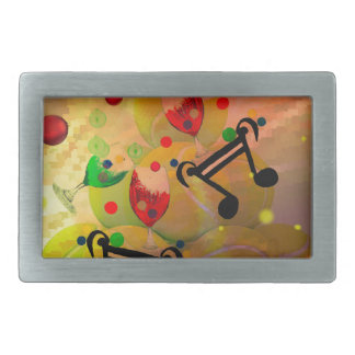 Tennis with music notes in Christmas Belt Buckle