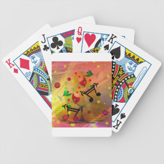 Tennis with music notes in Christmas Bicycle Playing Cards
