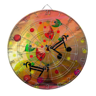 Tennis with music notes in Christmas Dartboard