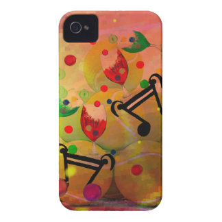 Tennis with music notes in Christmas iPhone 4 Case