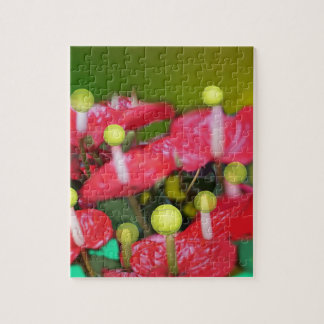 Tennis with red flowers puzzle
