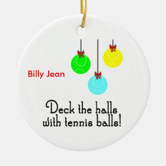 TennisChick Deck Personalized Ornament