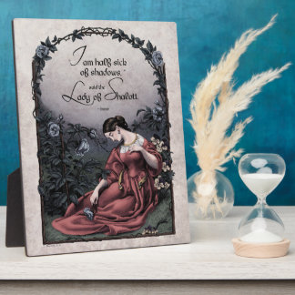 Tennyson Lady of Shalott Victorian 8x10 Art Plaque