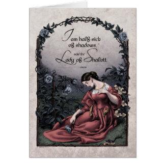 "Tennyson ""Lady of Shalott"" Victorian Art Card"