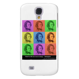"Tennyson ""Love Is Long"" Quote PopArt Gifts &  Samsung Galaxy S4 Case"