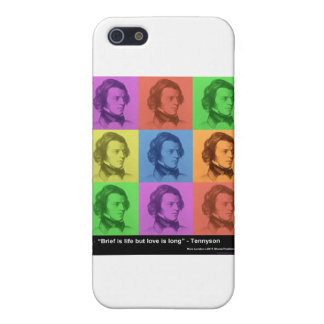 """Tennyson """"Love Is Long"""" Quote PopArt Gifts &  iPhone 5/5S Case"""