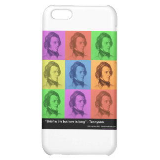 "Tennyson ""Love Is Long"" Quote PopArt Gifts &  Case For iPhone 5C"
