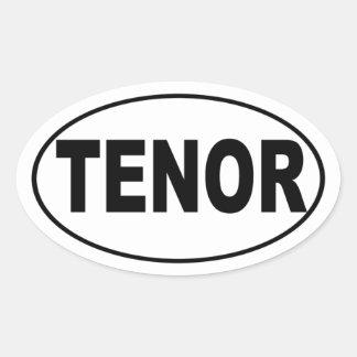 Tenor Attitude Singer Oval Sticker
