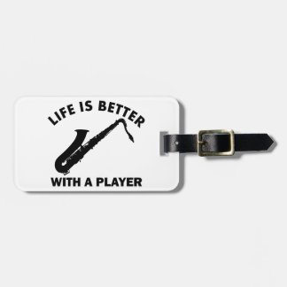 Tenor Saxophone vector designs Luggage Tag