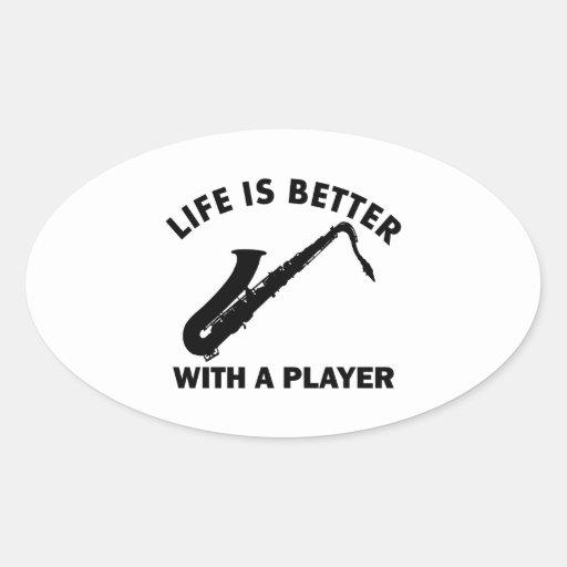 Tenor Saxophone vector designs Sticker