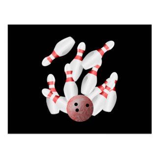 Tenpin bowling postcard