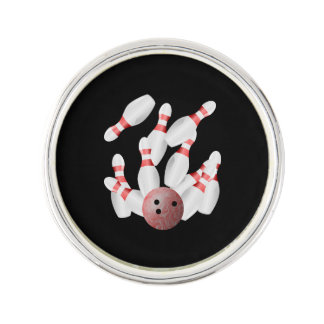Tenpin bowling Strike Lapel Pin