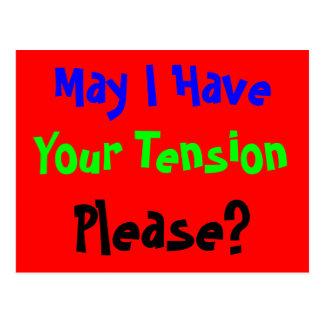 Tension Please Postcard