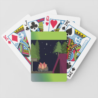 Tent Camping Poker Deck