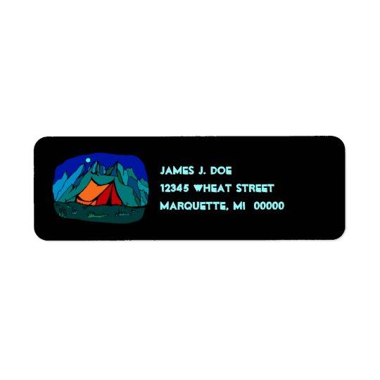 Tent Campsite Moonlight Mountains re Address Label