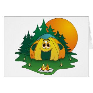 Tent Cartoon Card