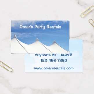 Tent Rental Business Card
