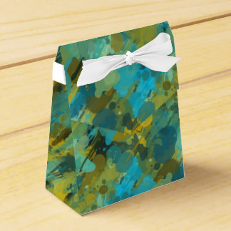 Tent with Abstract Design Wedding Favor Box
