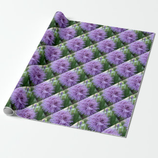 Tentacle Spider Violet Flower Wrapping Paper