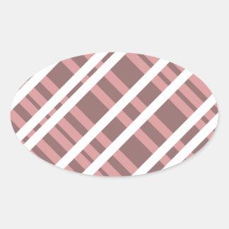 Tentacle Stripes Oval Sticker