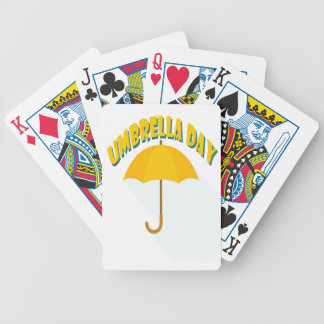Tenth February - Umbrella Day - Appreciation Day Bicycle Playing Cards