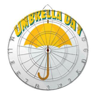Tenth February - Umbrella Day - Appreciation Day Dartboard