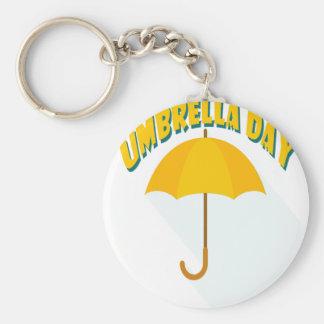 Tenth February - Umbrella Day - Appreciation Day Keychain