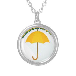 Tenth February - Umbrella Day - Appreciation Day Silver Plated Necklace
