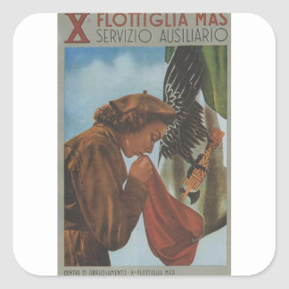 Tenth flotilla Propaganda Poster Square Sticker