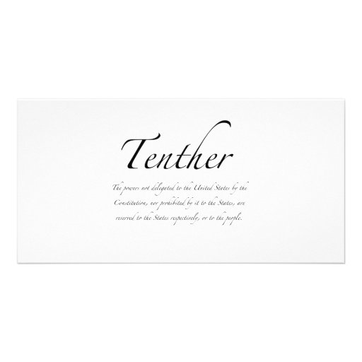 Tenther Photo Greeting Card