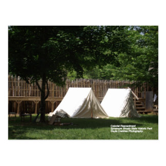 Tents at Sycamore Shoals State Historic Park Postcard